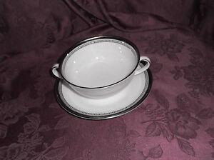 Royal-Doulton-England-Fine-Bone-China-Sarabande-Soup-Bowl-With-Saucer