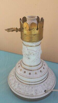 Lamps Antiques Beautiful Abat Jour Portalampada In Ceramica Di Capodimonte Bianca E Oro Anni '60 Vintage Modern And Elegant In Fashion