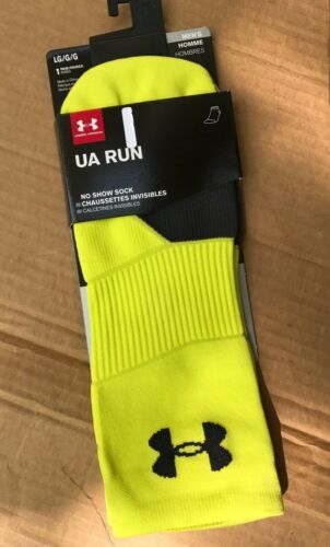NWT Men/'s Under Armour UA Launch Run Sock No Show Cushioned SIZE M L