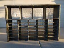 Vintage Industrial Steel Military Storage Shelving Unit Large 51 X 35 X 11