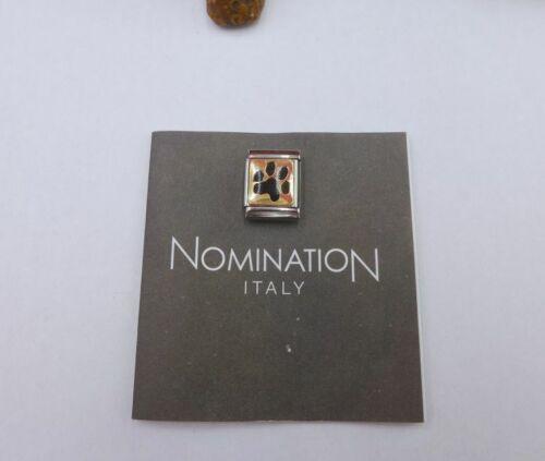 Nomination Big Modul Gold Element Pfoten Abdruck teil emailliert 032210 35
