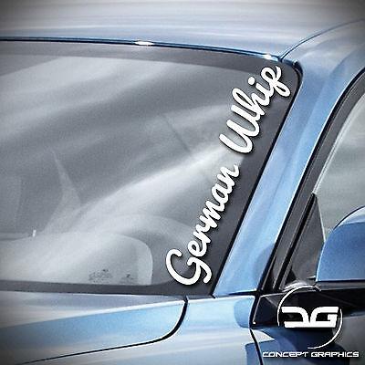 SILVER 55cm Windscreen Decal GERMAN WHIP Vinyl Car Sticker Window//Body
