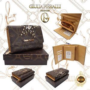 e9f27b65dbfbd Das Bild wird geladen Damen-XL-Geldboerse-Giulia-Pieralli-Design-klein- Portemonnaie-
