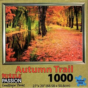 AUTUMN-TRAIL-1000-Pc-Jigsaw-Puzzle-by-Puzzle-Passion-Landscape-Series-New-Sealed
