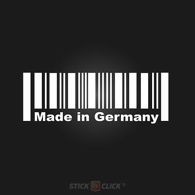MADE IN GERMANY Sticker DUB DUBSTYLE Aufkleber BARCODE Strichcode Deutschland