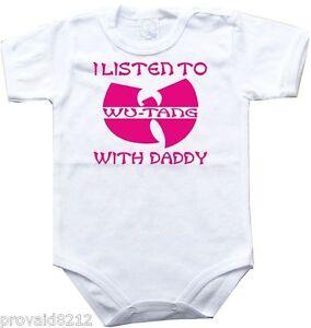 pink girl One Piece jersey Wu-Tang Clan Baby bodysuit WU TANG 7,kids