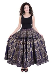 Skirt-Indian-Flared-Long-Wear-Party-Work-Women-Ladies-Ethnic-Casual-Maxi-Beach