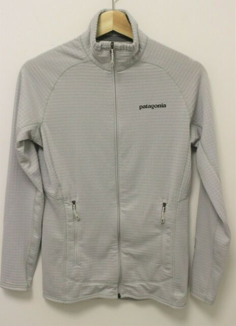 PATAGONIA R Series Women's Zip Up Waffle Fleece Jacket - Light Gray - Sz XS
