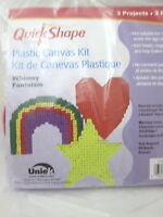 Uniek Quick Shape Plastic Canvas Kit Whimsey - Rainbow, Heart & Star