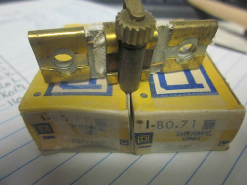 NEW LOT OF 2 SQUARE D OVERLOAD RELAY THERMAL UNITS B0.71..XT16P