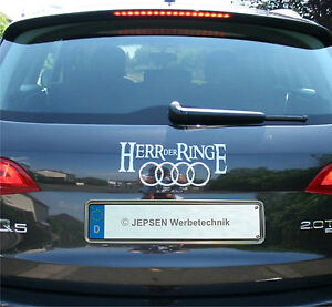 herr der ringe cartattoo heck aufkleber f r audi q5 ebay. Black Bedroom Furniture Sets. Home Design Ideas