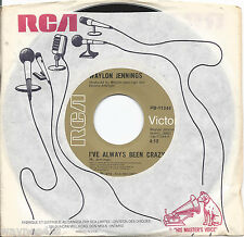 WAYLON JENNINGS * 45 * I've Always Been Crazy * 1976 * UNPLAYED MINT Canadian