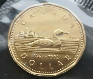 CANADA-LOONIE-1992-PROOF-LIKE-SEALED-COIN