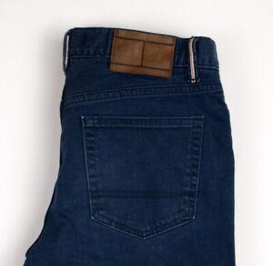Tommy-Hilfiger-Herren-Slim-Gerades-Bein-Jeans-Stretch-Groesse-W32-L32-APZ274
