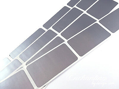"""Scratch Off Labels 1/"""" x 2/"""" Silver Rectangle Stickers 500"""