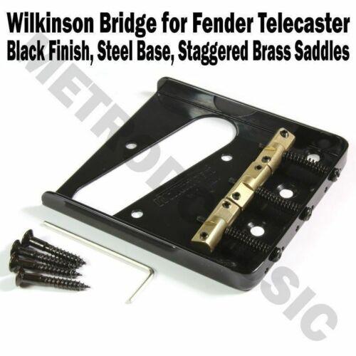 Wilkinson Telecaster Steel Bridge Brass Saddles Fender Tele Guitar WTBBK Black