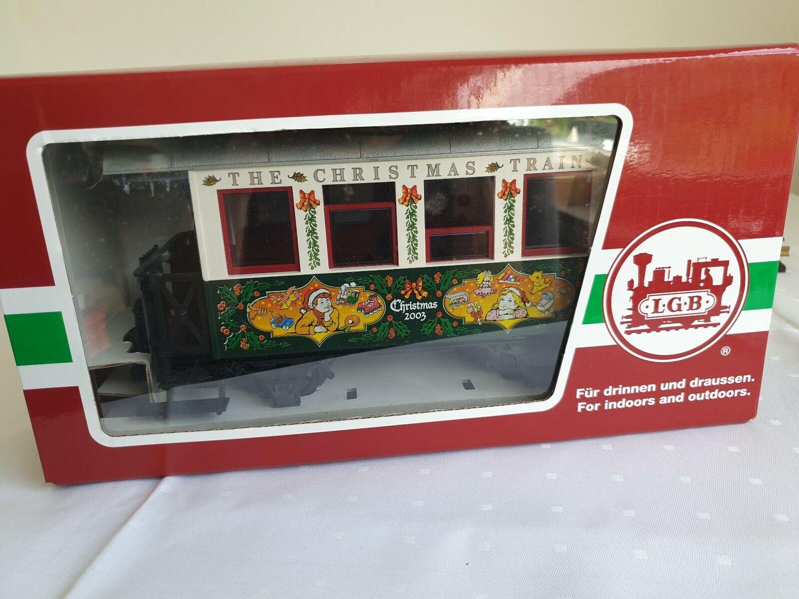 LGB 37076 Weihnachtspersonenwagen 2003 wie Neu