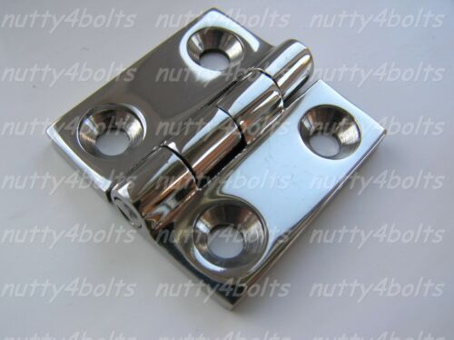 HEAVY-DUTY-STAINLESS STEEL BUTT HINGE 38mm A4-316 MARINE BOAT DOOR HINGE