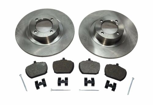 Pair of New MGB Brake Rotors and Brake Pads  and Hardware Kit Pins MGB 1963-1980