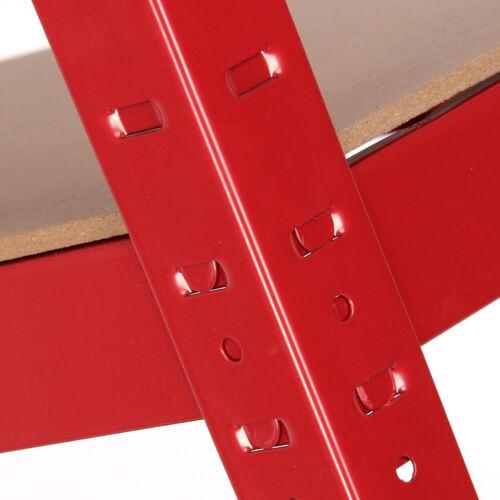 1 alloggiamenti per travaso Rosso 5 Piani scaffalature Unità rack di stoccaggio Ripiano resistente in acciaio rosso