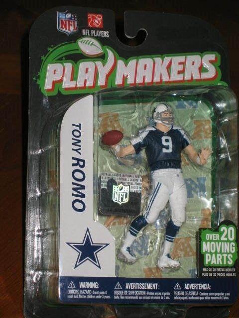 MCFARLANE PLAYMAKERS TONY ROMO Spielzeug Figure - SEALED  w  NFL hologram sticker  OOP
