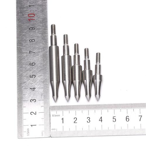 6pcs Stainless Steel Arrow Point Tip For OD7.6mm Arrow Shaft Arrow Head RAL 'i