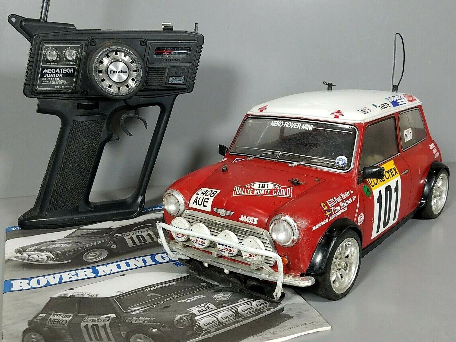 Tamiya 1 10 R C Rover Mini Cooper Racing M01 Chassis FWD Futaba ESC Transmitter