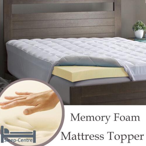 Memory Foam Mattress Topper 5FT King Size 152cm x 200cm 2 Inch Depth
