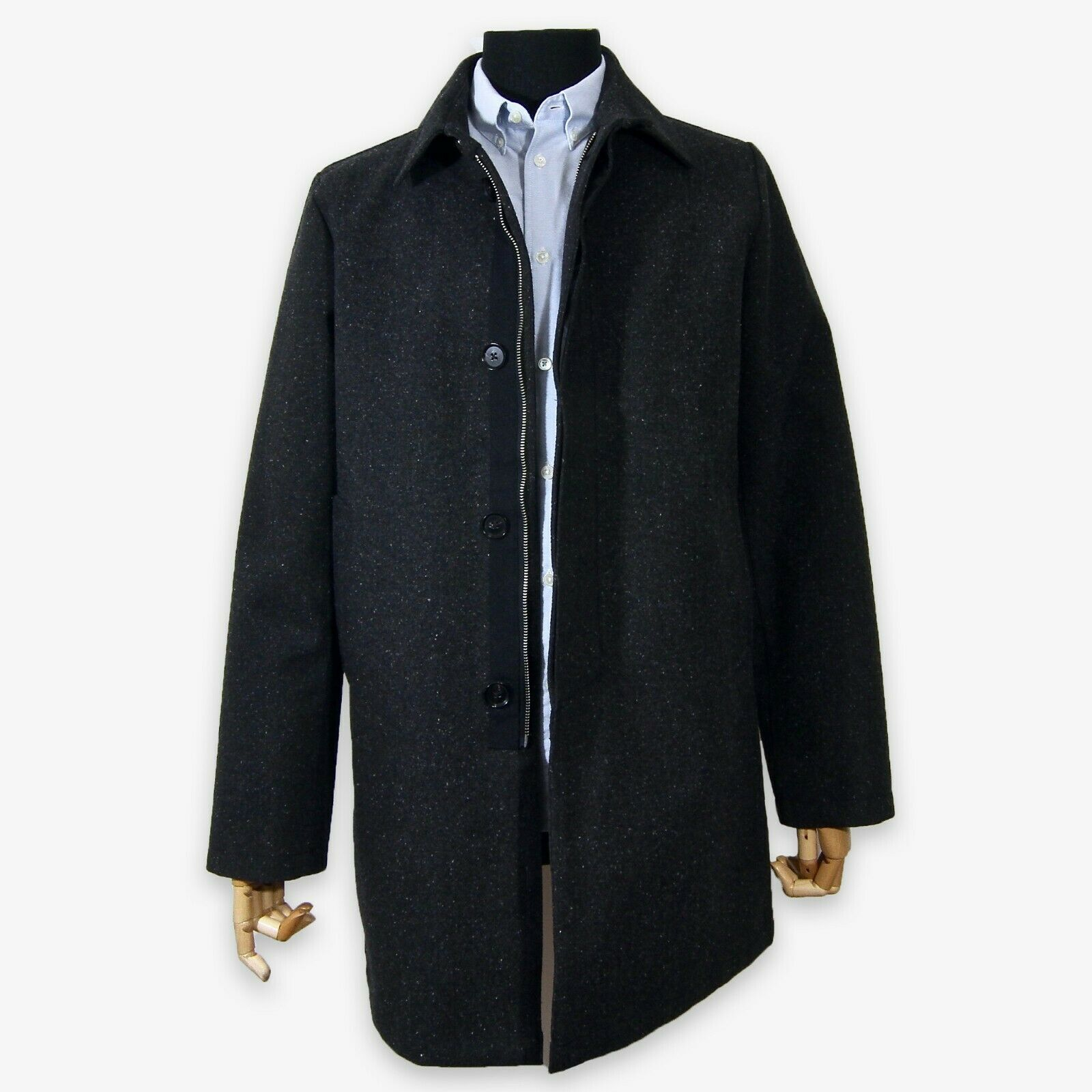 NEW LA PANOPLIE TWEED MAC ANTHRACITE LARGE NEW Jacket