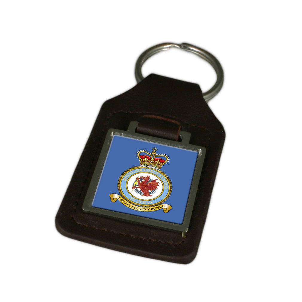 Royal Air Force st Athan Graviert Schlüsselanhänger aus Leder | Online Outlet Store