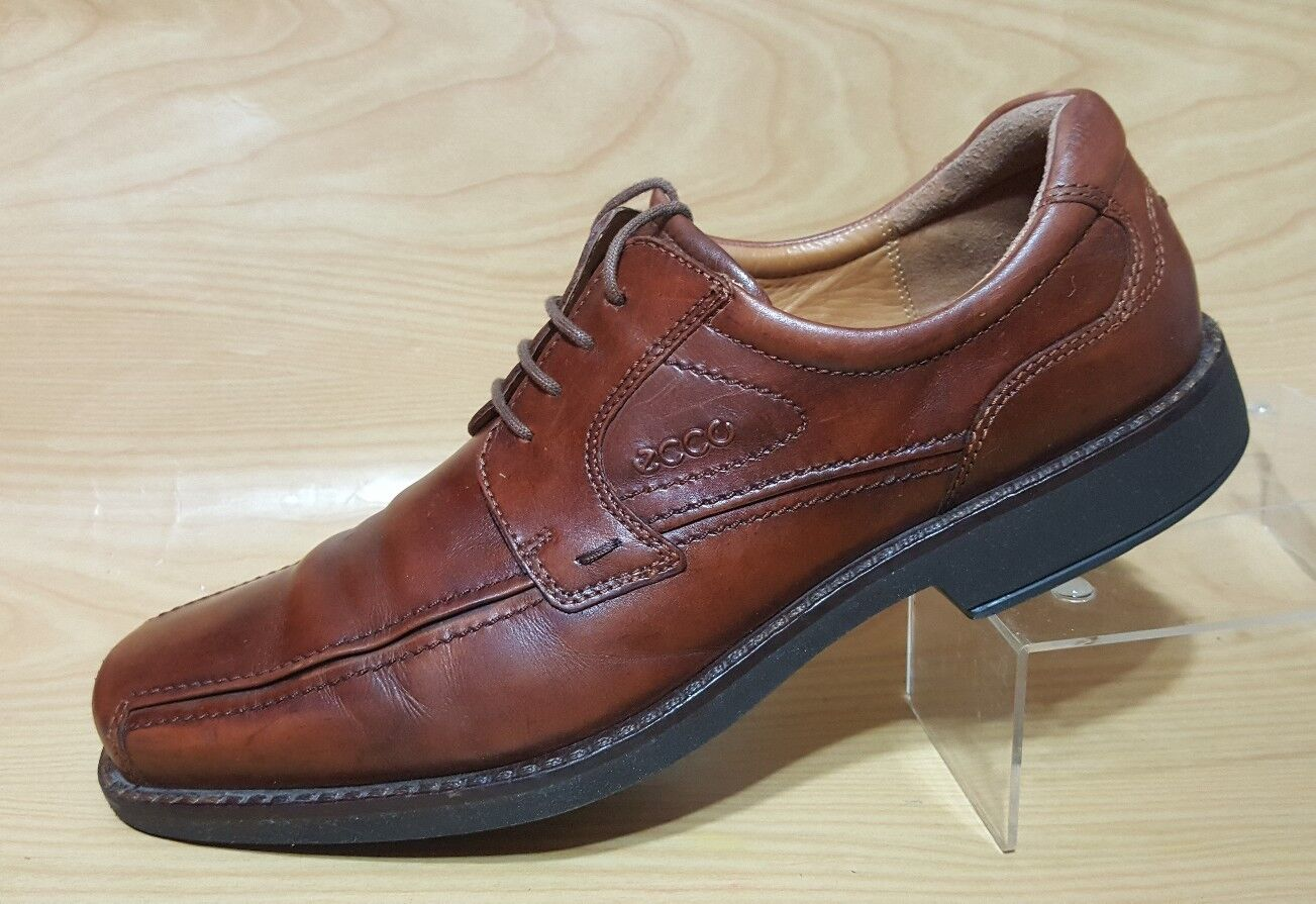 Ecco Mens Brown Oxfords 12 - 12.5   46 Leather Lace Up shoes