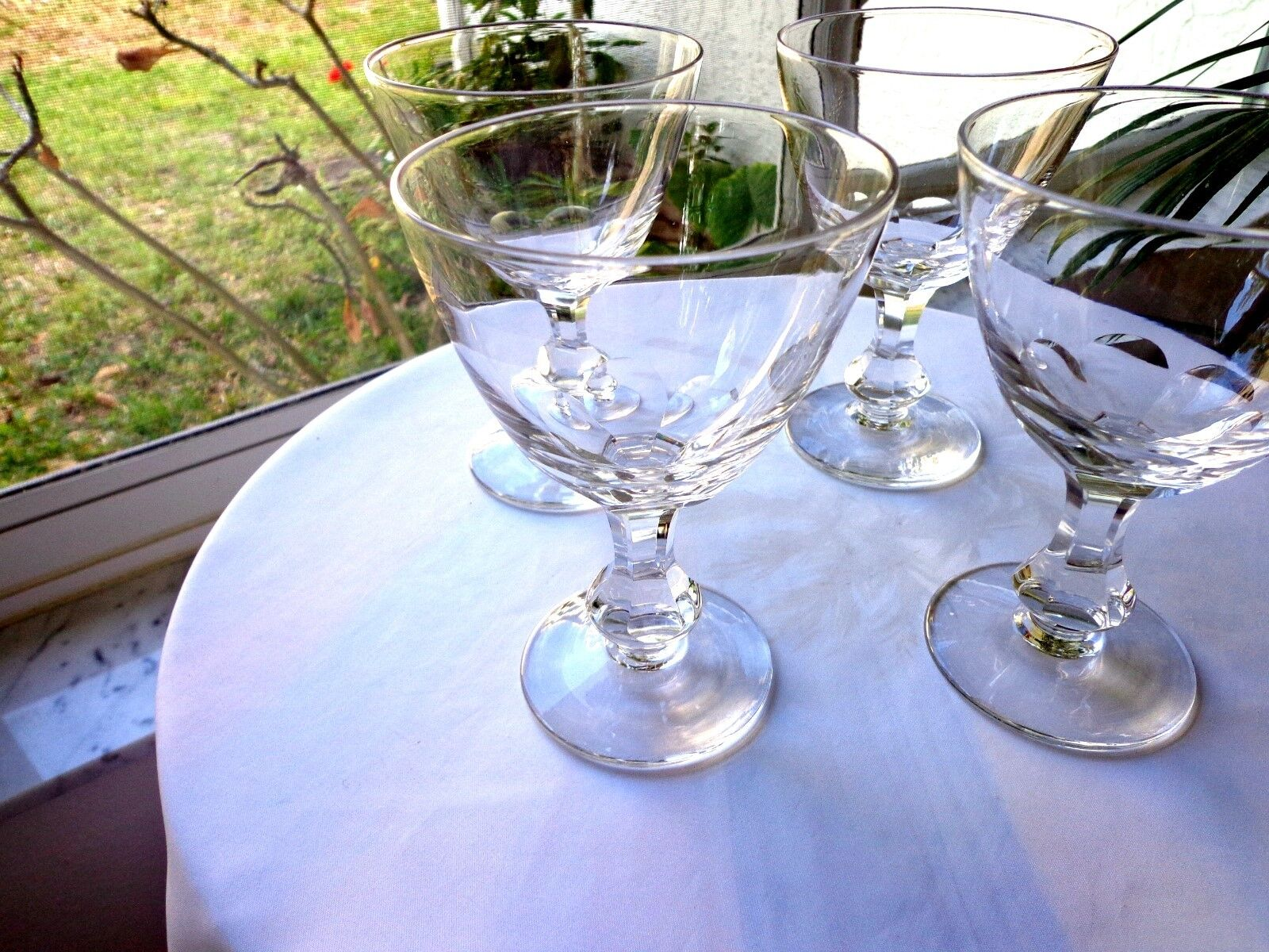 Clear Pattern Heritage Bryce of Set Crystal 4 Goblets Water