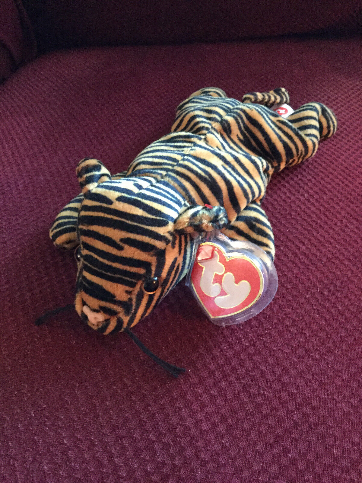 TY Beanie Babie STRIPES THIN STRIPES NEW VERY RAR.Collectors Item Tag Rarities