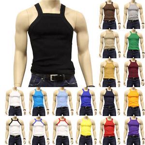 a633b1d58445f G UNIT Square Cut Ribbed Tank Top Undershirt Underwear Wife Beater ...