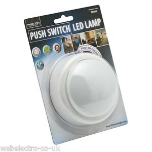 20269 Battery Operated Push On Off Touch Night Light Round