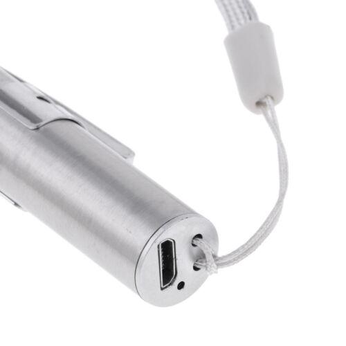 USB wiederaufladbare LED Taschenlampen Mini Stiftlicht Taschenlampe Penlight