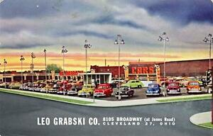 Used Cars Cleveland Ohio >> Details About Print 1951 2 Cleveland Ohio Leo Grabski Co Ford Used Cars