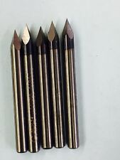 Engraving Tools Carbide Cutters bit 15 degree 1/8 di USA CNC 5pcs Dremel bits