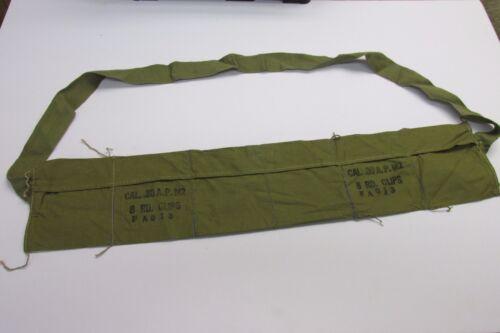 ORIGINAL US WW2 M1 GARAND BANDOLEER KHAKI AP M2 FA 813 NICE* NOT REPRO