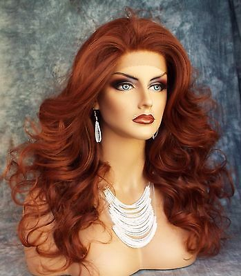 LONG CURL HAND TIED LACE FRONT WIG T33.130 GORGEOUS CAPTIVATING  US SELLER 270