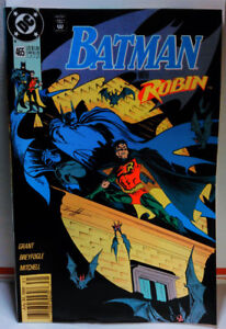 BATMAN-465-NEWSSTAND-VARIANT-Key-1st-Tim-Drake-ROBIN-team-up-DC-COMICS-fine