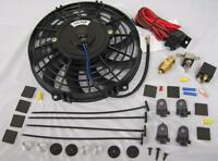 9 Curved S-blade Electric Radiator Cooling Fan W/ Thermostat Relay & Mount Kit