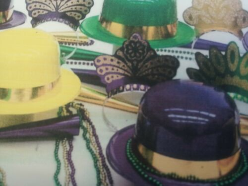 ASSORTMENT FOR 25 PEOPLE FESTIVE PARTY//EVENT KIT BEADS//HATS//TIARAS//MARDI GRAS
