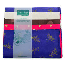 Commercio equo carta Lokta cinque fogli regalo Wrap Pack gwp85