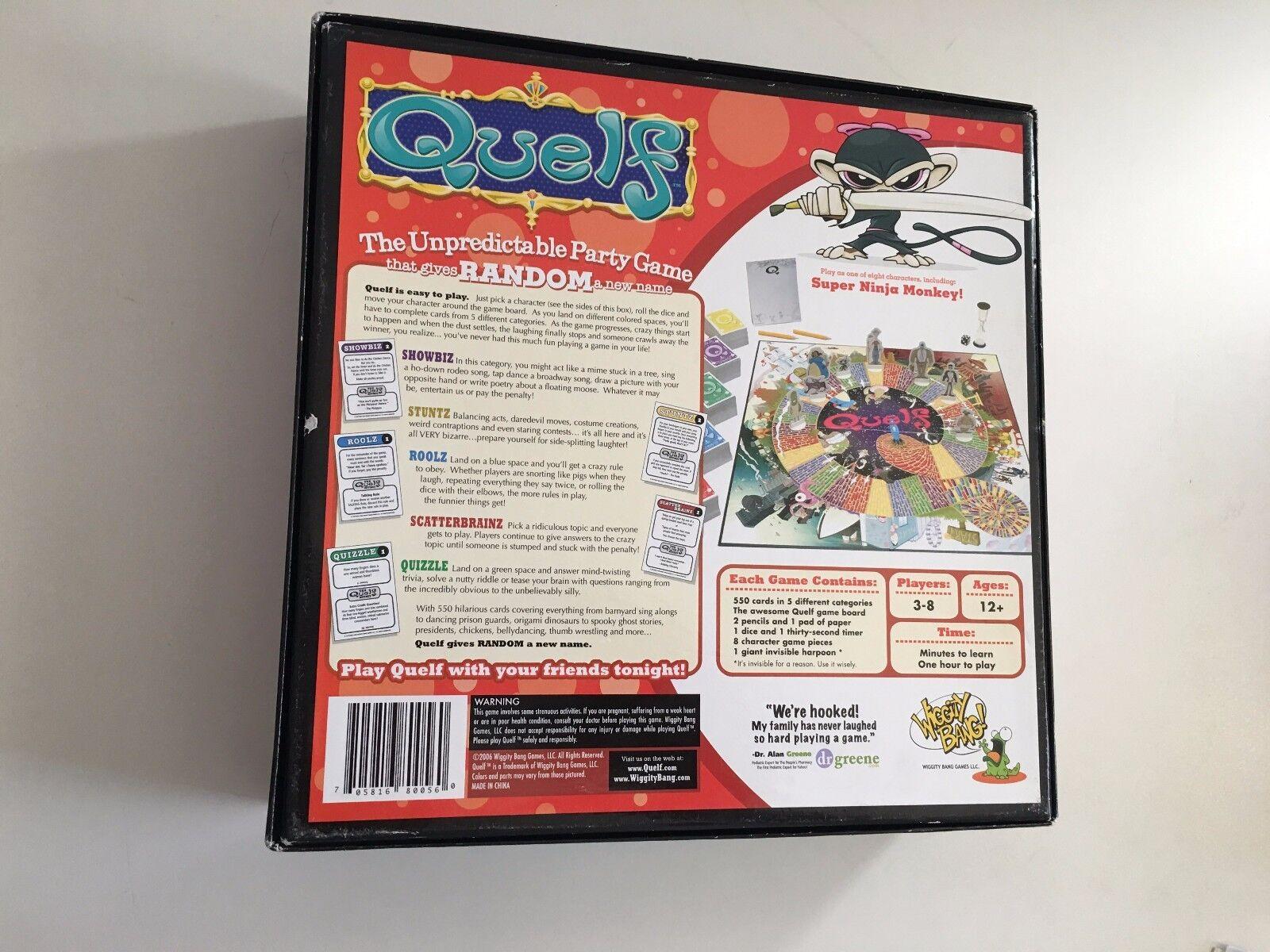 Quelf Premier Premier Premier Edition Board Game 99% Complete Rare d61f3a