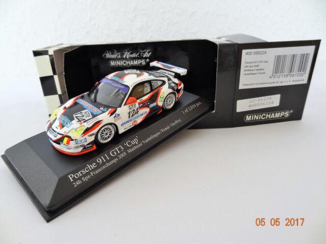 Porsche 911 GT3 Cup  24h Spa 2005  Limitiert  Minichamps  1:43  OVP  NEU