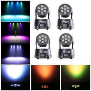70W Moving Head Bühnenlicht RGBW 7 LEDs Uplighting Beam Effekt DMX DJ Party Club