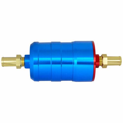 en bleu Sytec haut débit Motorsport Filtre Carburant entrée 12 mm//12 mm Outlet