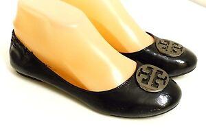 640b6015f75b EUC Tory Burch Women s Size EU 37 US 6 1 2 Black Patent Leather ...