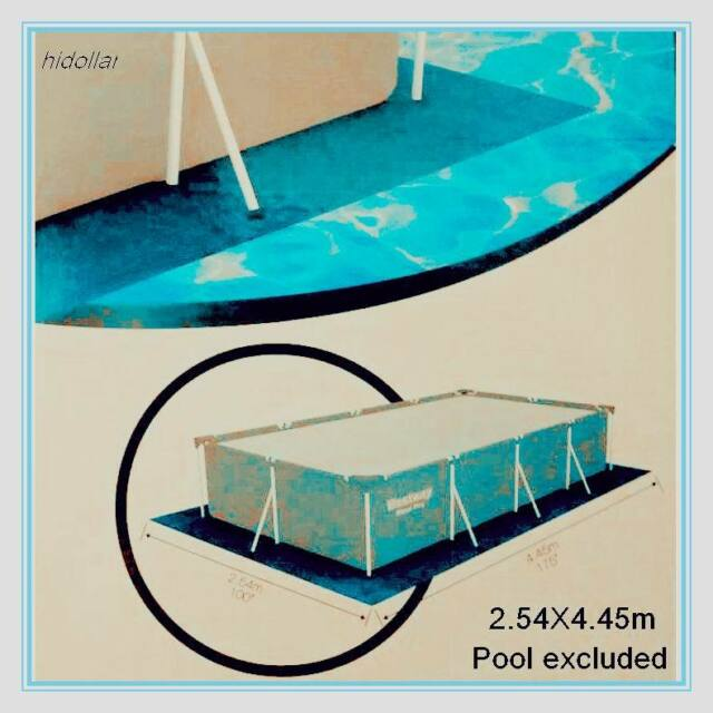 Pool Ground Cloth Tarpaulin Sheet Rectangle Tarp 58102 100 X175